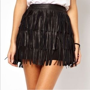 NWT Chelsea & Violet Faux Leather Mini Skirt Med